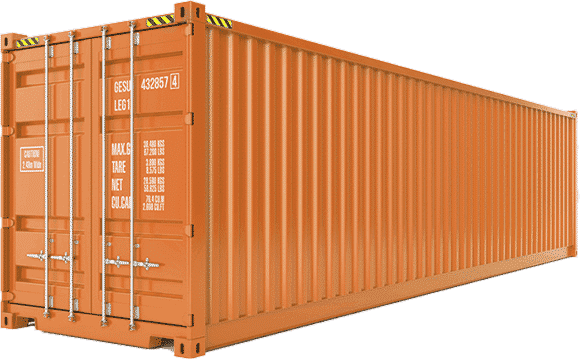 A 40ft sea freight container
