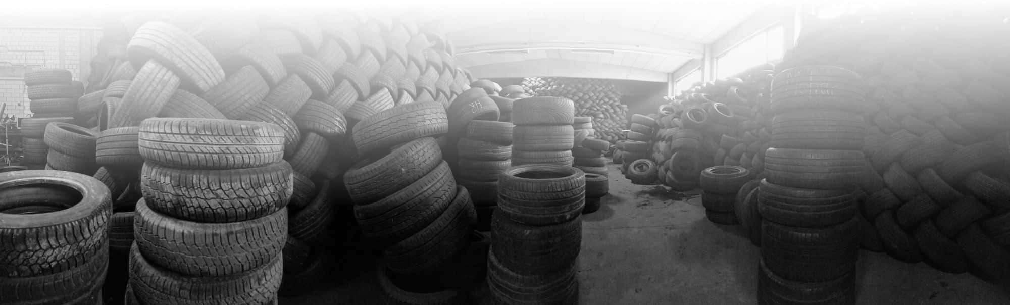 Warehouse for used tyres in Germany